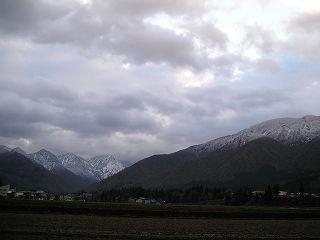 新潟県南魚沼市に冬が近づいてきました